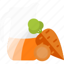 carrot, drink, juice, vegetables icon