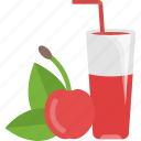 cherry, drink, fruit, juice icon