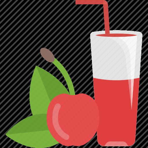 cherry, drink, fruit, juice icon