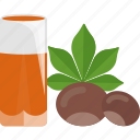 chestnut, drink, food, juice icon