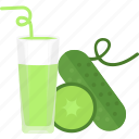 cucumber, drink, juice, vegetables icon