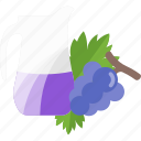 drink, fruit, grape, juice icon