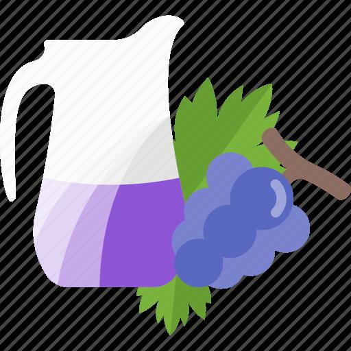 drink, fruit, grape, juice icon
