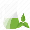 drink, greenery, juice, sheet icon