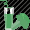 drink, food, greenery, juice, vegetables icon