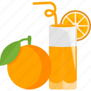 drink, fruit, juice, mandarine icon