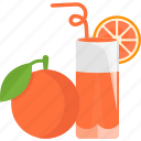 drink, fruit, juice, orange icon