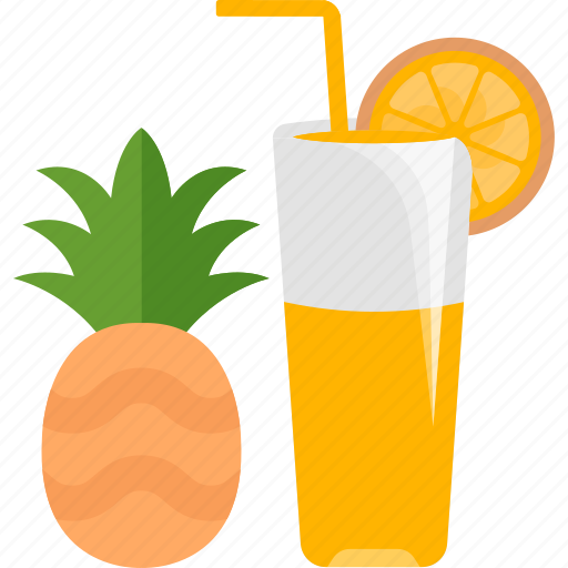 drink, fruit, juice, pineapple icon