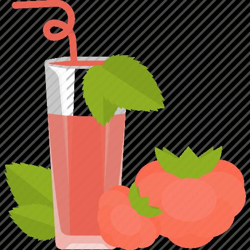 drink, fruit, juice, raspberry icon