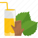 drink, juice, sheet, tree icon