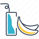 banana, coctail, drink, juice icon