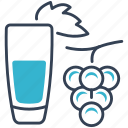 drink, grapes, juice icon