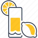 drink, juice, lemon icon