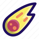 asteroid, comet, disaster, explosion, meteor, space icon