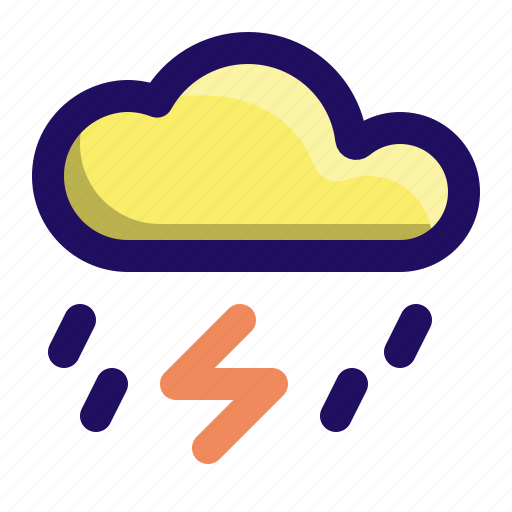 cloud, lightening, rain, storm, thunderclouds, weather icon