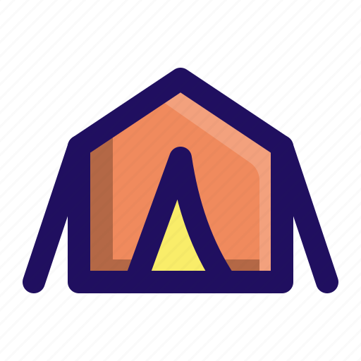 camp, camping, outdoor, shelter, tent icon
