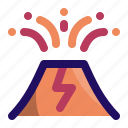 disaster, eruption, explosion, lava, mountain, volcano icon
