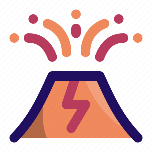 disaster, eruption, explosion, lava, mountain, volcano icon
