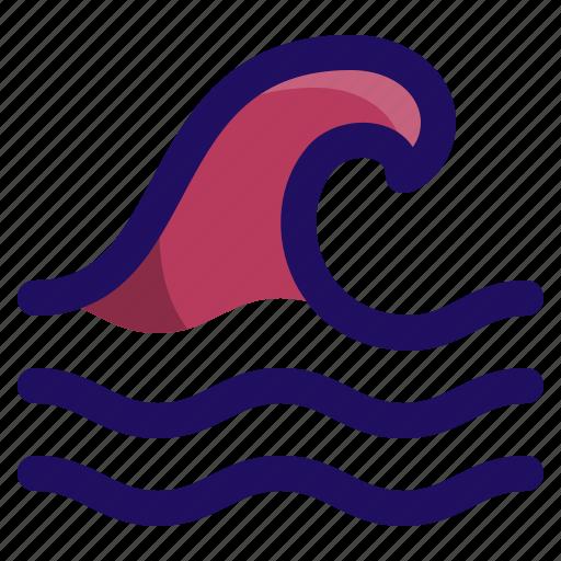 disaster, ocean, surf, tsunami, water, wave icon