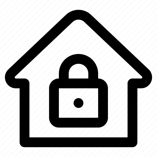 home, house, lock, locked, protection, safe icon