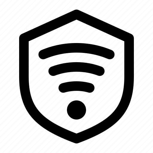 connection, protection, secure, shield, wifi, wireless icon