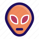alien, face, space, ufo