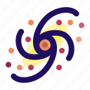 astronomy, galaxy, planet, spiral, star, universe icon