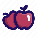 apple, apples, food, fruit, pilgrim, thanksgiving icon