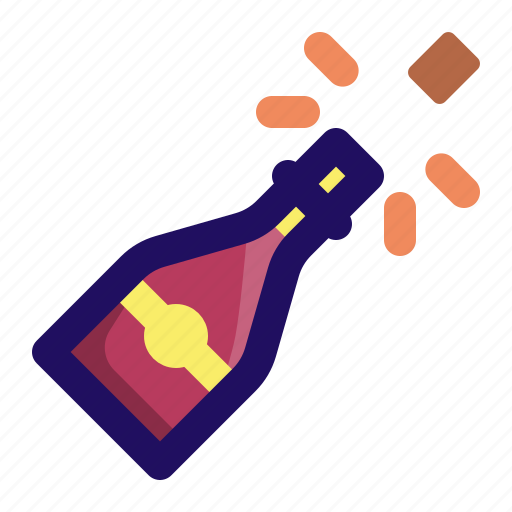 bottle, celebration, champagne, drinks, party icon
