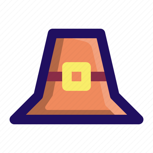celebration, hat, pilgrim, thanksgiving, tradition icon