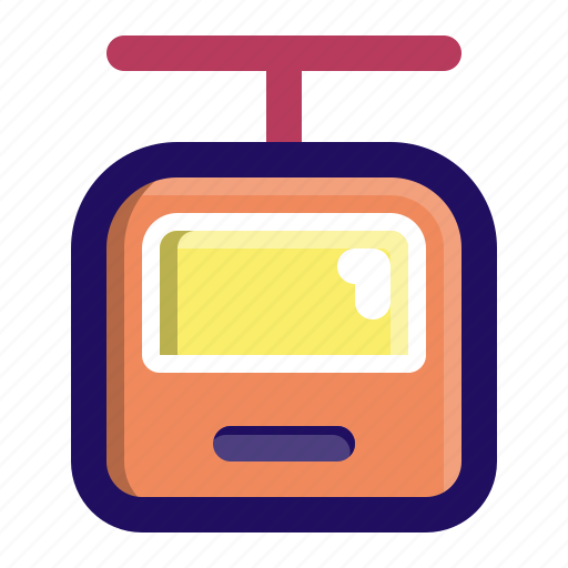 cabin, cable, car, rope, transport, travel icon