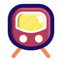metro, public, railway, station, train, transport icon