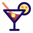 alcohol, cocktail, drink, glass, lemon, wine