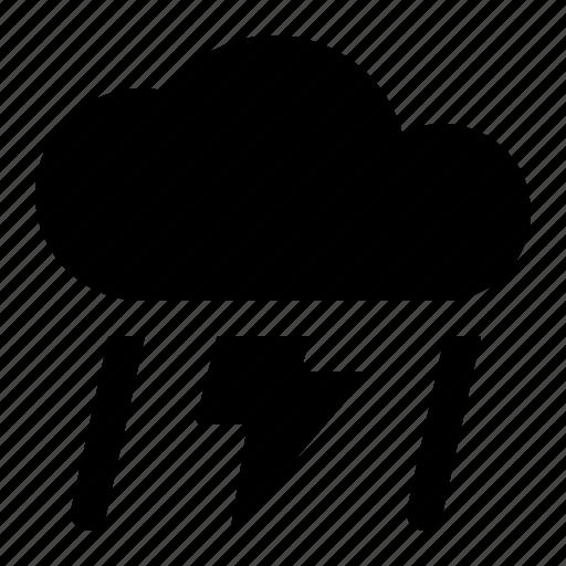 cloud, lightning, rain, sky, thunder, weather icon
