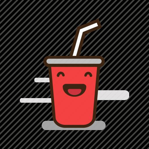 soda food cartoon drink emoji soft fast expression icon emoticon junk 512px