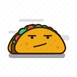 cartoon, emoji, emoticon, expression, fast food, mexican, taco icon