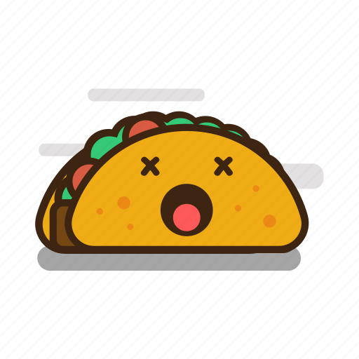cartoon, emoji, emoticon, expression, fast food, mexican, taco icon