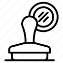 emboss, imprint, label, mark, stamp icon