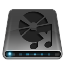 aduio, cd, dark, disc, disk, drive icon