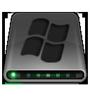 dark, disk, drive, system icon