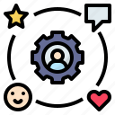 effect, feedback, impact, reaction, social icon