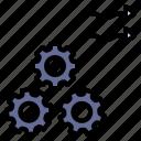 activity, flexible, flow, machine, working icon