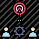 aim, goals, target, team, trigger