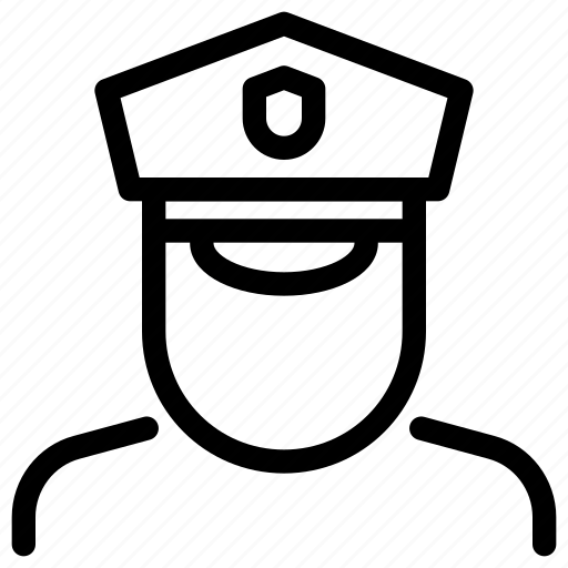 justice, law, legal, officer, police, security icon