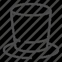 cylinder, top, head, hat, cap, headwear, clothes