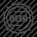 beer, cap, bottle, alcohol, barrel, drink