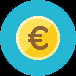 coin, euro icon