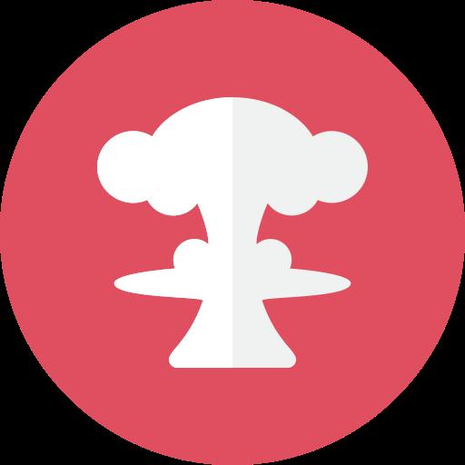 mushroom, nuclear icon