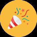 partie, poppers icône