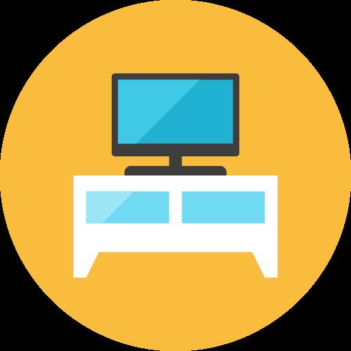 shelf, television icon